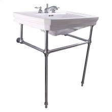 """Drew 30"""" Console with Brass Stand - 8"""" Widespread / Polished Chrome"""