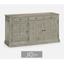 "68"" Rustic Grey Three Door Sideboard"