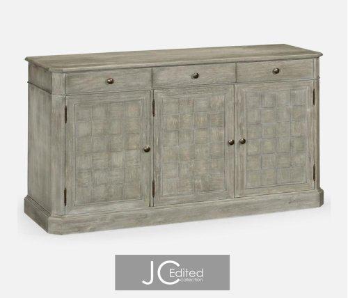 "68"" Rustic Grey Three Door Sideboard"