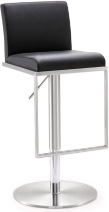 Amalfi Black Steel Adjustable Barstool