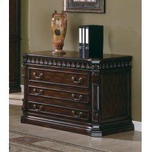 Tucker Rich Brown Three-drawer File Cabinet