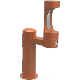 Elkay Outdoor EZH2O Bottle Filling Station Pedestal, Non-Filtered Non-Refrigerated Freeze Resistant Terracotta