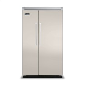 "Oyster Gray 48"" Side-by-Side Refrigerator/Freezer - VISB (Integrated Installation)"