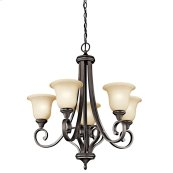 Monroe 5 Light Chandelier Olde Bronze®