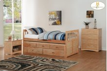 Twin/Twin Trundle Bed with Two Storage Drawers