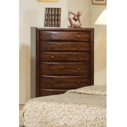 Hillary Warm Brown Six-drawer Chest Product Image