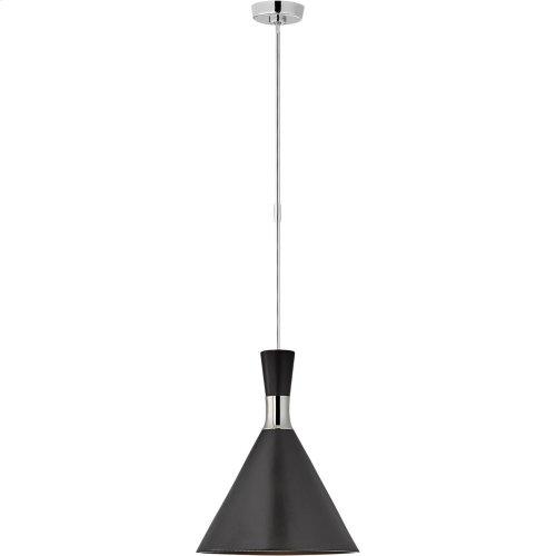 Visual Comfort S5641PN-MTB Studio VC Liam 1 Light 15 inch Polished Nickel Pendant Ceiling Light, Medium Conical