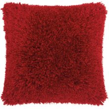 """Shag Tl003 Red 20"""" X 20"""" Throw Pillows"""