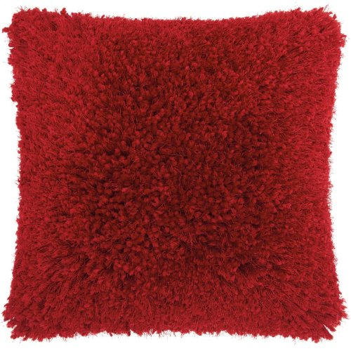"Shag Tl003 Red 20"" X 20"" Throw Pillows"