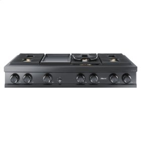 """48"""" Gas Rangetop, Graphite Stainless Steel, Natural Gas/High Altitude"""