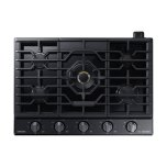 "Samsung36"" Chef Collection Gas Cooktop with 22K BTU Dual Power Burner in Matte Black Stainless Steel"