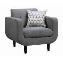 Stansall Mid-century Modern Grey Chair