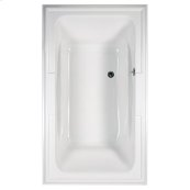 Town Square 72x42 inch EcoSilent Combo Massage Tub - White
