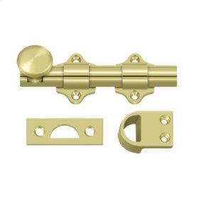 "4"" Dutch Door Bolt, HD - Polished Brass"