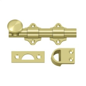 "4"" Dutch Door Bolt, HD - Polished Brass"