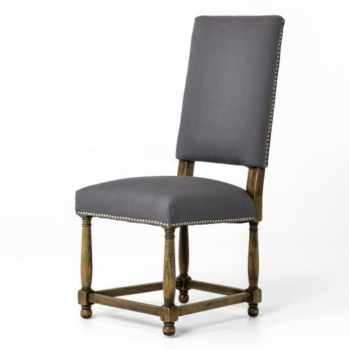 Connor Dining Chair-grey Cotton