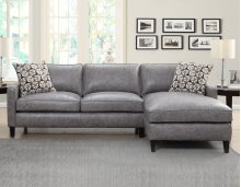 "Alder Right Arm Chaise, Dark Grey, 37""x64""x36"" w/One Pillow"