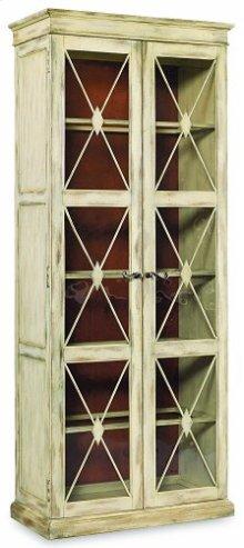 Two-Door Thin Display Cabinet - Dune