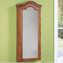 """Antique Oak"" Wall Jewelry Storage Mirror"