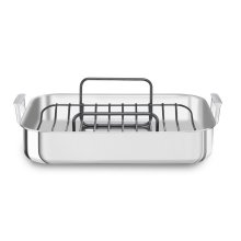 Tri-Ply Polished Stainless Steel Roaster - Other
