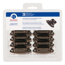 Project-Pack Surface Self-Closing Flush Hinge 20-Pk
