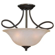 3 Light Convertible Semi Flush/Pendant