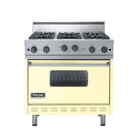 """Lemonade 36"""" Open Burner Range - VGIC (36"""" wide, six burners)"""