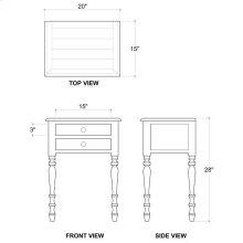 Tucker 2 Drawer Side Table