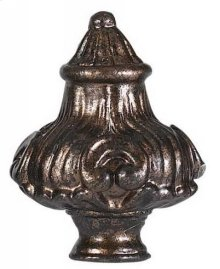 Metal cast finial