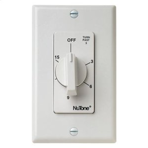 Broan15 Min. Timer Switch (White)