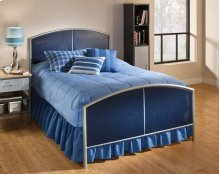Brayden Mesh Full Duo Panel Silver and Navy - MUST ORDER 2 PANELS FOR COMPLETE BED SET
