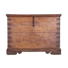 Antique Wood Storage Box Ue73