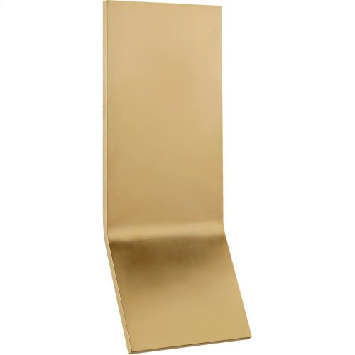 Visual Comfort PB2050NB Peter Bristol Bend LED 20 inch Natural Brass Outdoor Wall Light, Large Tall