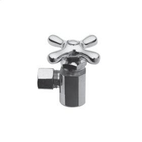 "Gloss Black Angle Valve, 1/2"" IPS"