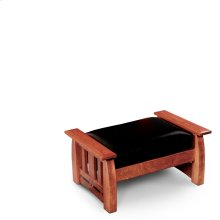 Aspen Ottoman, Leather Cushion Seat