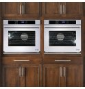 "DACOR Renaissance 30"" Single Wall Oven in Stainless Steel - ships with Epicure Style stainless steel handle with chrome end caps."