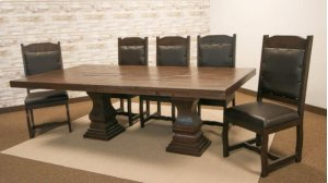 Terra Dark 8' Pedestal Table