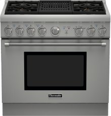 36 inch Professional Series Pro Harmony Standard Depth All Gas Range PRG364NLH