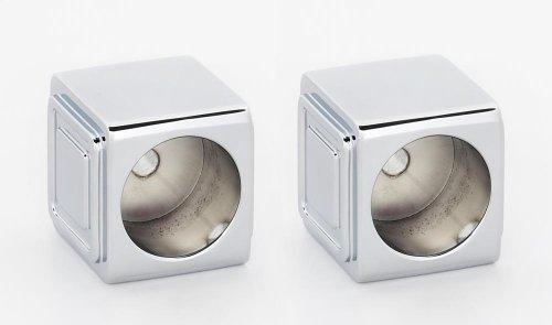 Cube Shower Rod Brackets A6546 - Polished Chrome