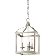 Larkin Collection Larkin 3 Light Foyer Chandelier - Brushed Nickel