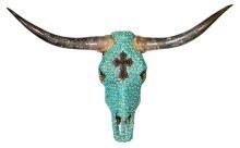 Turq Cross Jeweled Head