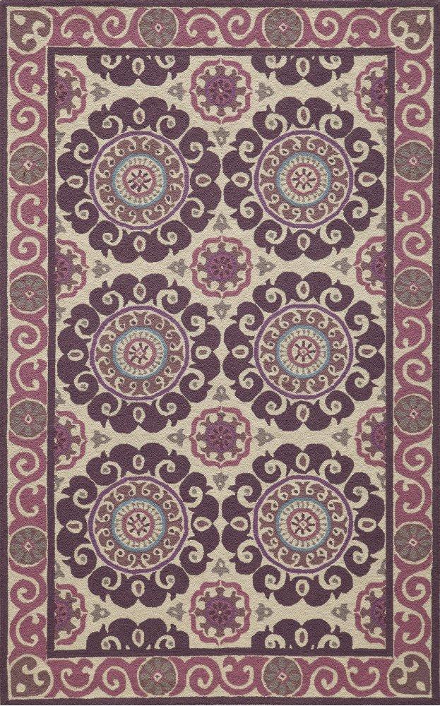 Suzani Hook Szi-01 Purple - 8.0 x 10.0