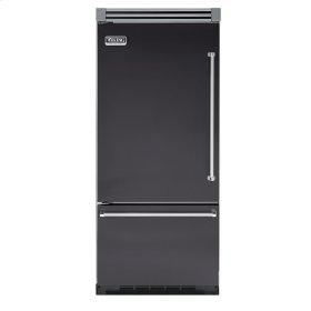 "Graphite Gray 36"" Quiet Cool™ Bottom-Mount Refrigerator/Freezer - VIBB Tru-Flush™ (Left Hinge Door)"
