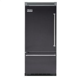 "Graphite Gray 36"" Quiet Cool™ Bottom-Mount Refrigerator/Freezer - VIBB Tru-Flush™ (Left Hinge Door)"