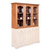 "Classic Closed Hutch Top, 63 1/2"", Antique Glass Product Image"