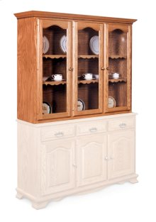Classic Closed Hutch Top, Large, Antique Glass