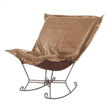 Scroll Puff Rocker Avanti Bronze Titanium Frame