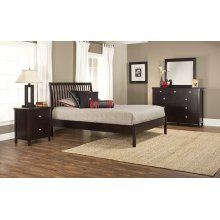 Metro 4pc Queen Espresso Bedroom with Liza Platform Bed