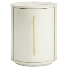 Panavista Sundial Drum Table in Pearl