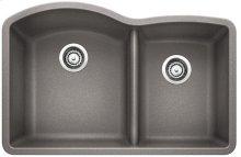 Blanco Diamond 1-3/4 Bowl With Low-divide - Metallic Gray